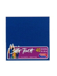 Serviette soft touch bleu marine (40pcs)