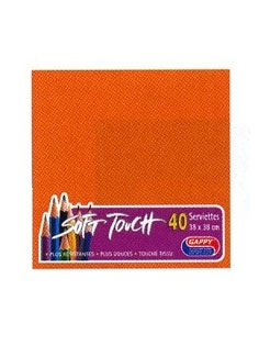 Serviette soft touch orange (40pcs)