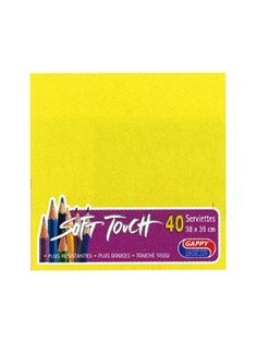 Serviette soft touch jaune (40pcs)