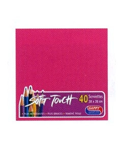 Serviette soft touch fuchsia (40pcs)