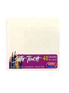 Serviette soft touch ivoire (40pcs)
