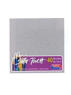 Serviette soft touch taupe (40pcs)