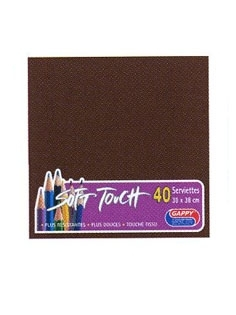 Serviette soft touch chocolat (40pcs)