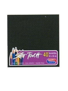 Serviette soft touch noir (40pcs)