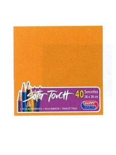Serviette soft touch abricot (40pcs)