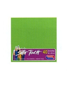 Serviette soft touch verte (40pcs)
